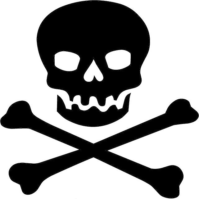 skull symbol text