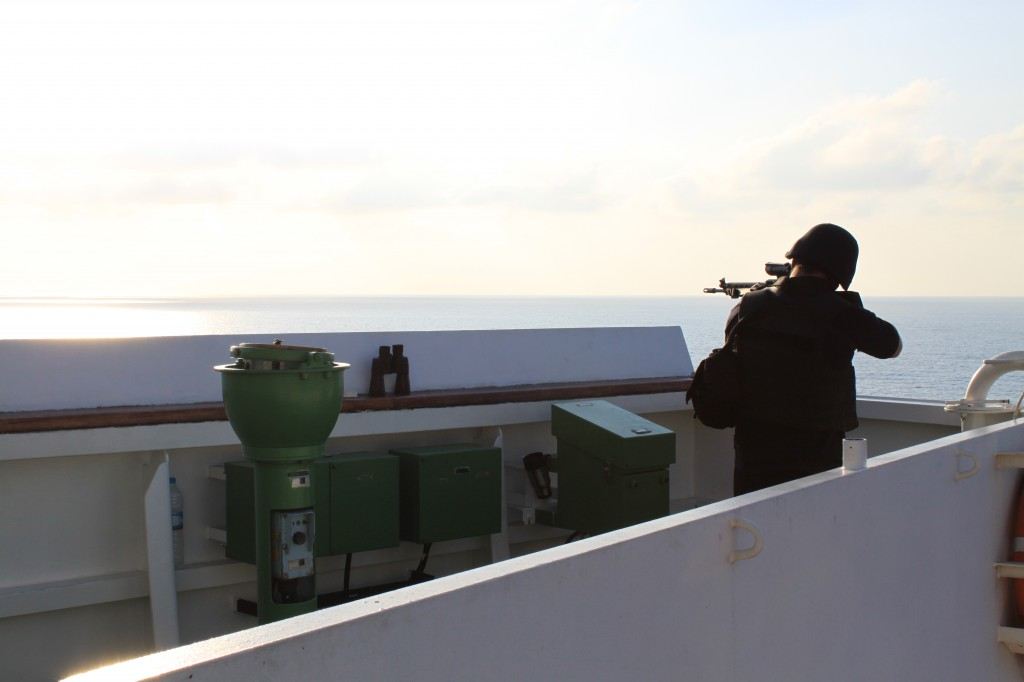 PVI Maritime Security on watch in the Gulf of Aden Apr 2011