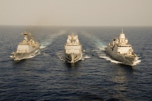 Big Three Meet At Sea