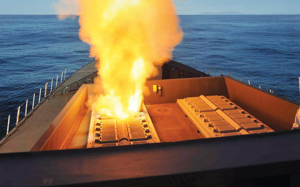 HMS DRAGON TESTS SEA VIPER MISSILES