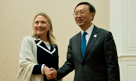 Hillary Clinton and Yang Jiechi