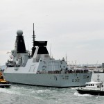 HMS DARING ARRIVES HOME AFTER DEPLOYMENT OF FIRSTS
