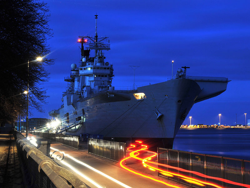HMS ILLUSTRIOUS alongside in Copenhagen
