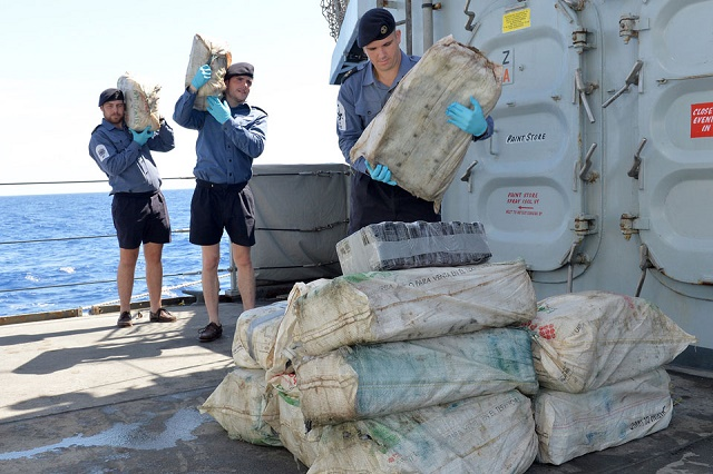 ROYAL NAVY MAKES £21M DRUGS BUST IN CARIBBEAN