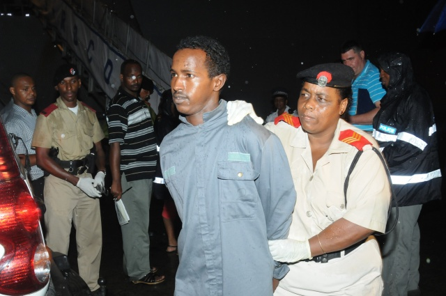 Seychelles police arrest 5 suspected pirates transferred by the French Naval ship Siroco on January 30, 2014 - See more at: http://www.seychellesnewsagency.com/articles/2007/Anti-piracy+fight+gains+momentum+as+Japan+and+Seychelles+sign+exchange+agreement#sthash.5kr3Bdkl.XNsrmkYr.dpuf