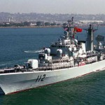 The destroyer Harbin was able to replace an engine bearing at sea using a 3D printer. (Internet photo)
