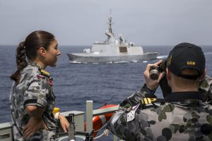 HMAS Newcastle conducts Security Patrol's in the Gulf of Oman