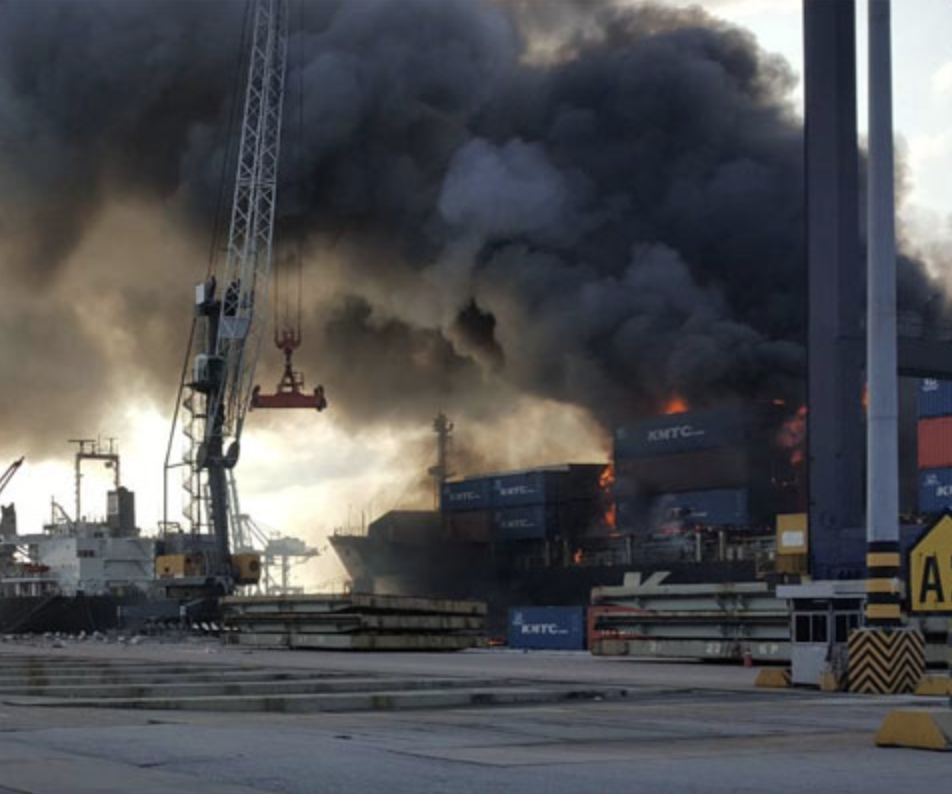 Calcium Hypochlorite Believed to Have Caused Major Fire on